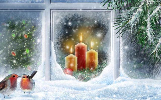 Новогодние открытки (18 штук)