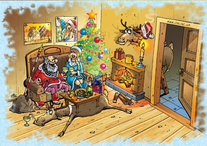 Веселье новогоднее :) (9рисунков)